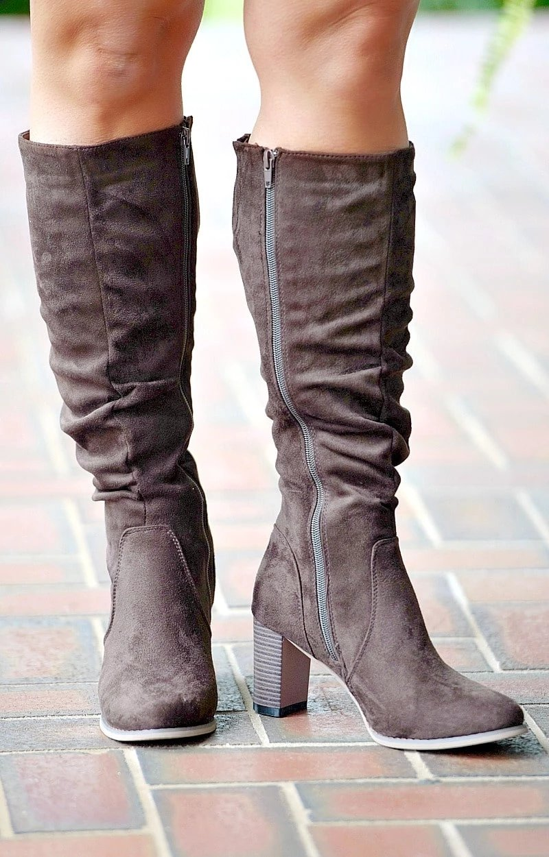 Back At It Knee Boots - Brown