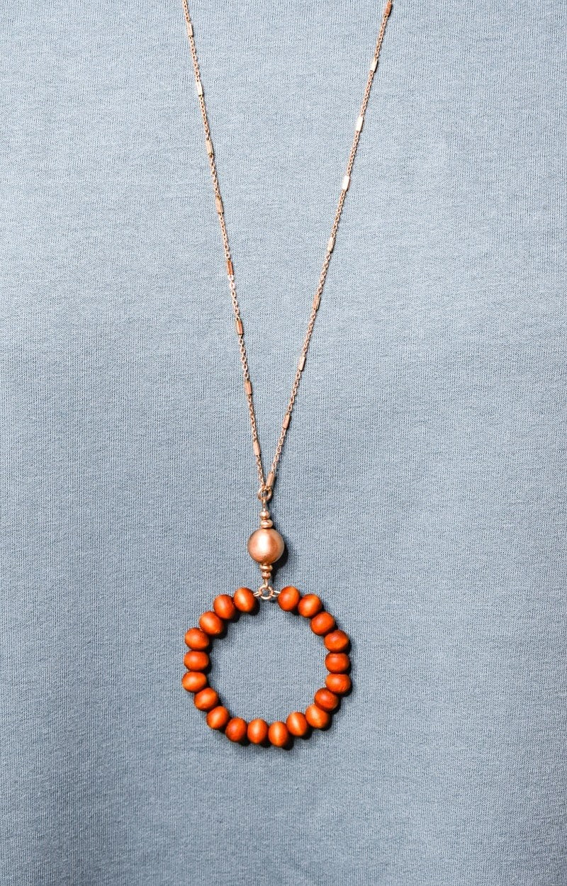 Let's Be Friends Necklace - Brown