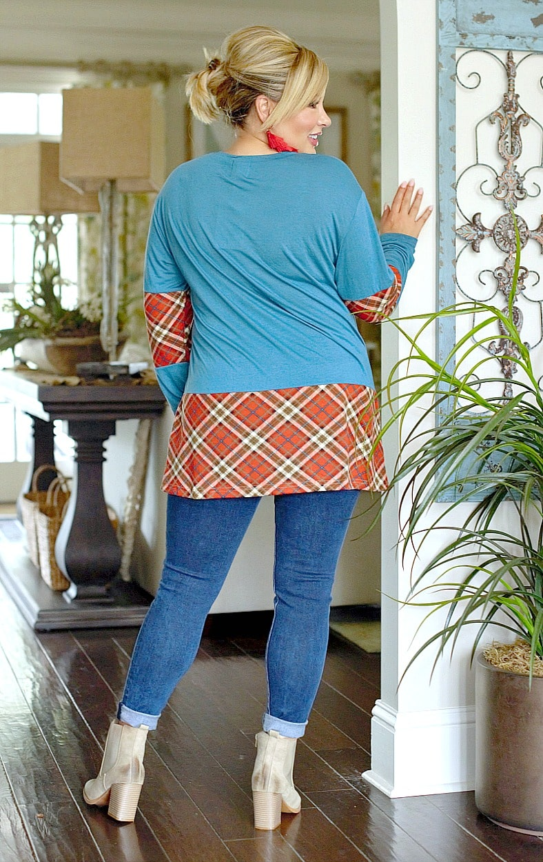 Load image into Gallery viewer, Mix It Up Print Top - Teal