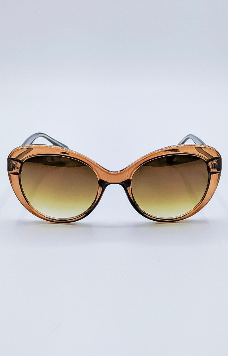 Load image into Gallery viewer, Sudden Desire Sunglasses - Brown/Gold