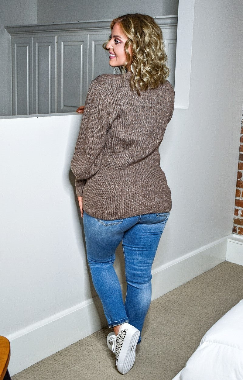 Looking Your Way Sweater - Dark Taupe