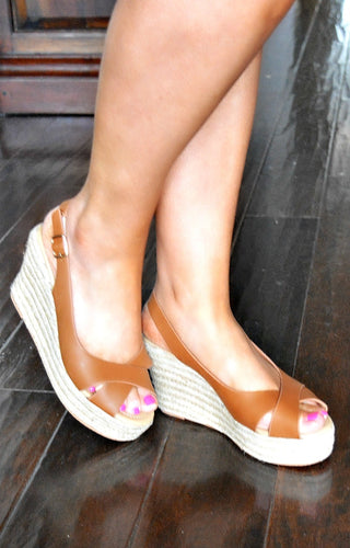 Touch & Go Wedges - Tan
