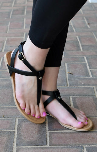 Pure Innocence Sandals - Black