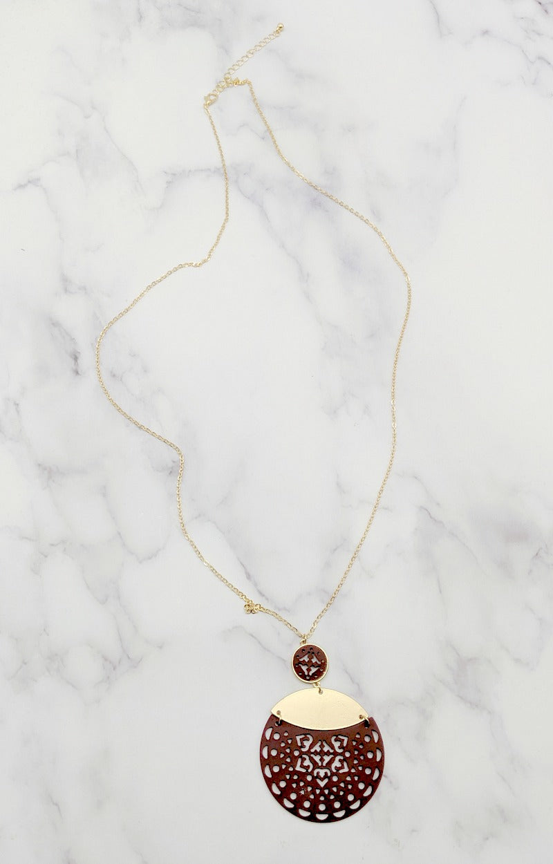 Load image into Gallery viewer, Blank Slate Necklace - Burgundy