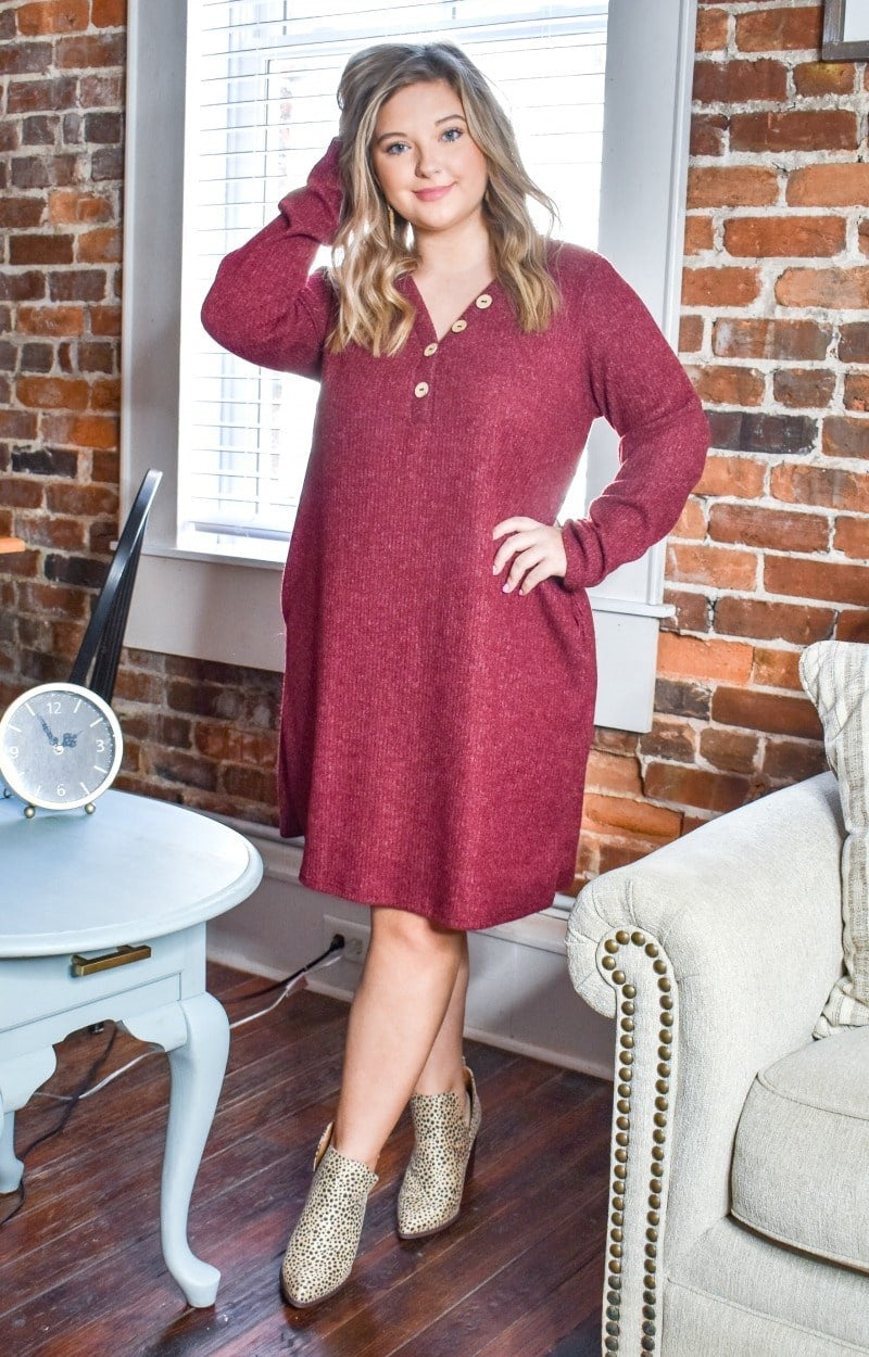 Load image into Gallery viewer, Endless Fun Dress - Burgundy