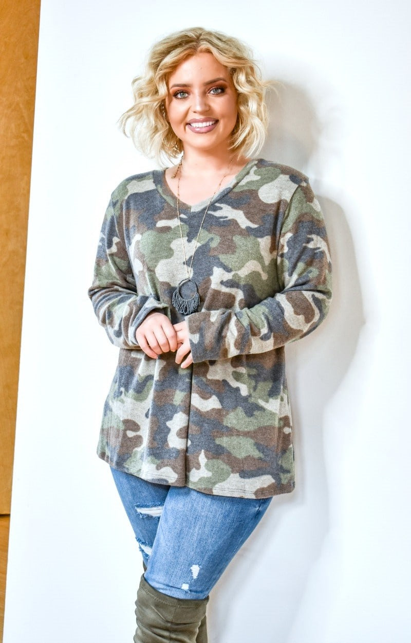 Load image into Gallery viewer, Aim High Camo Print Pullover