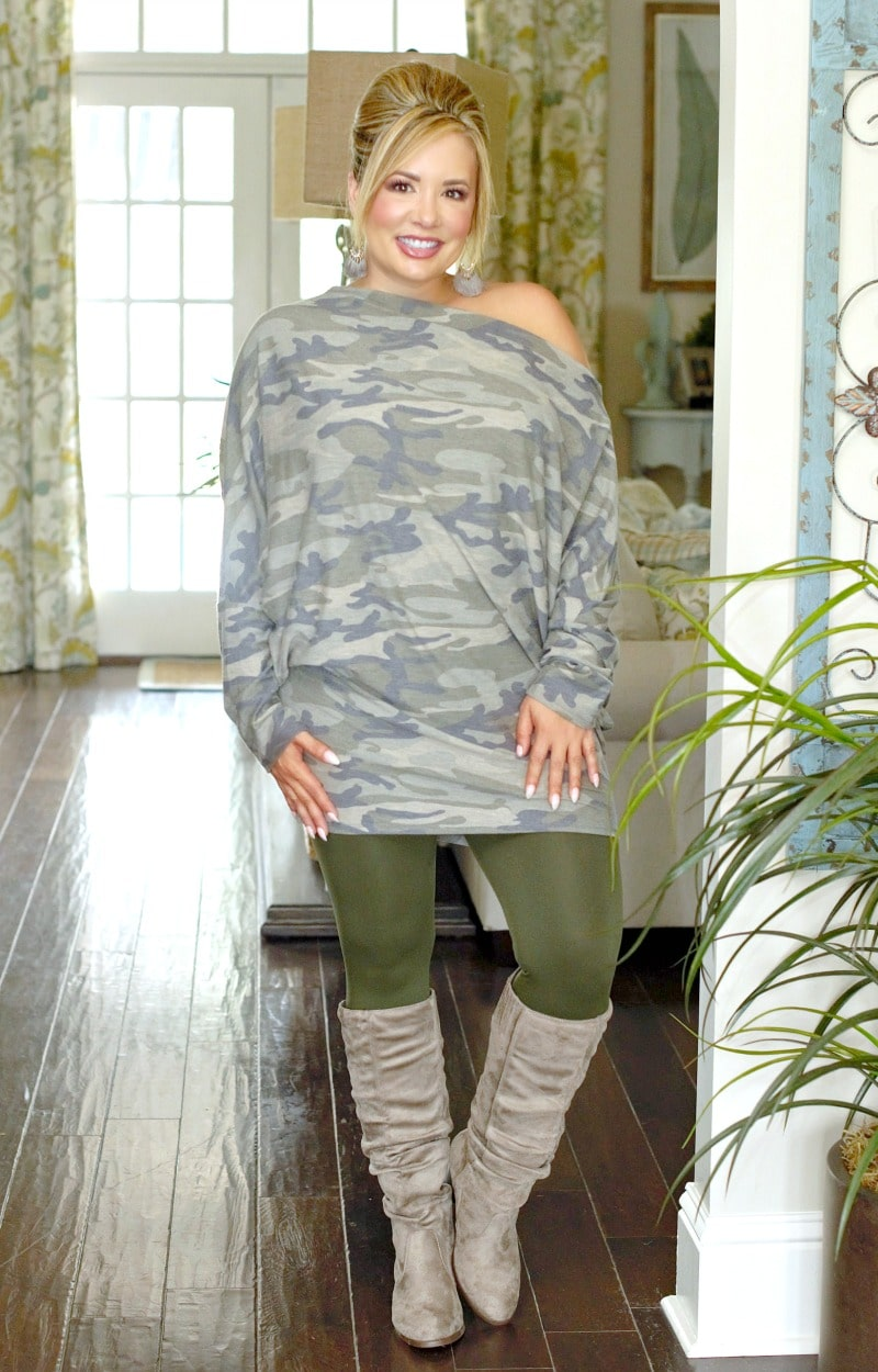 So Very Luxe Ankle Length Leggings - Army Green