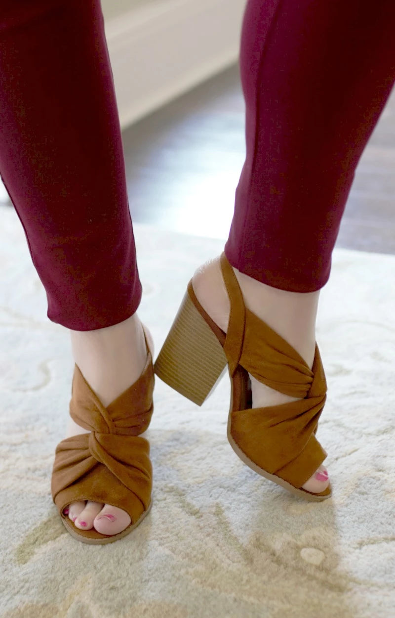New Heights Heels - Chestnut