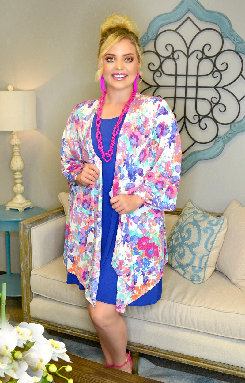 Load image into Gallery viewer, Too Cute Floral Cardigan - Multi
