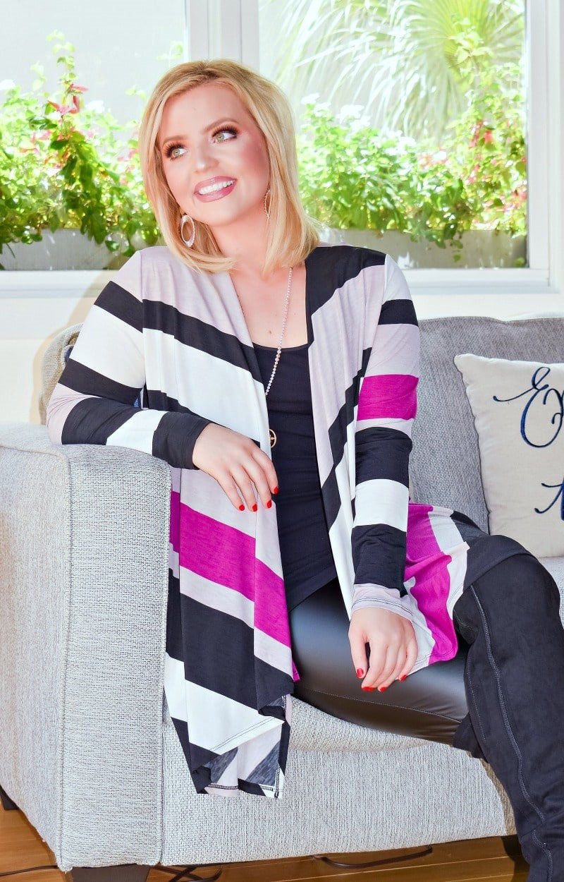 Keeps Calling My Name Striped Cardigan