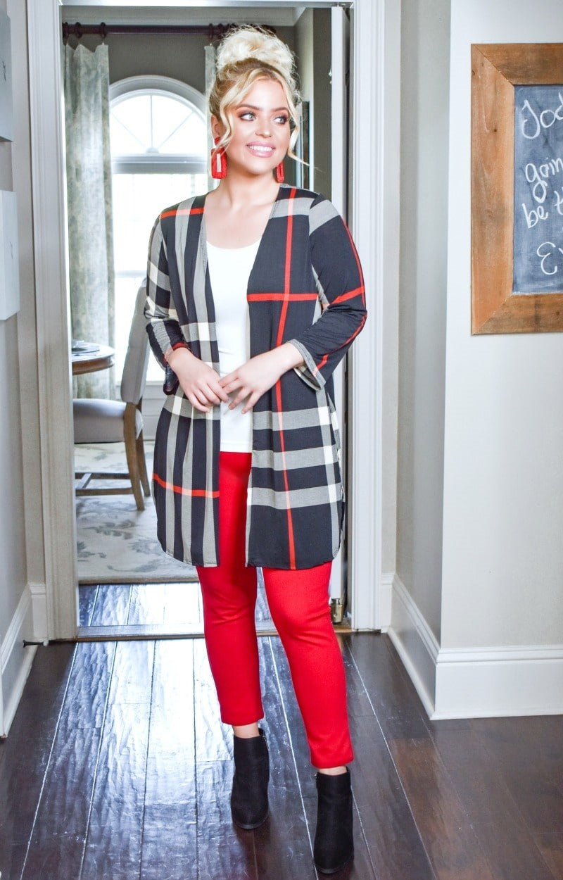 Load image into Gallery viewer, With Someone New Plaid Cardigan - Black