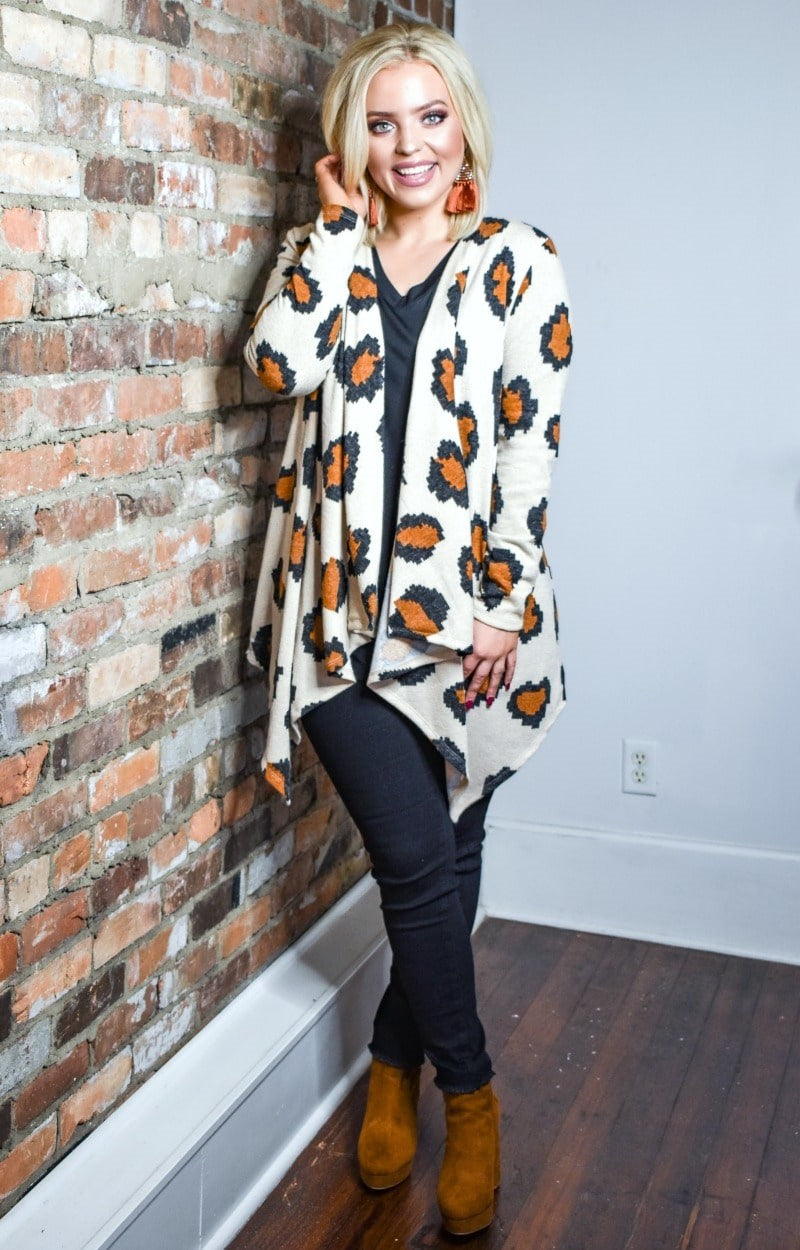 Load image into Gallery viewer, Out Of My Way Leopard Print Cardigan - Taupe