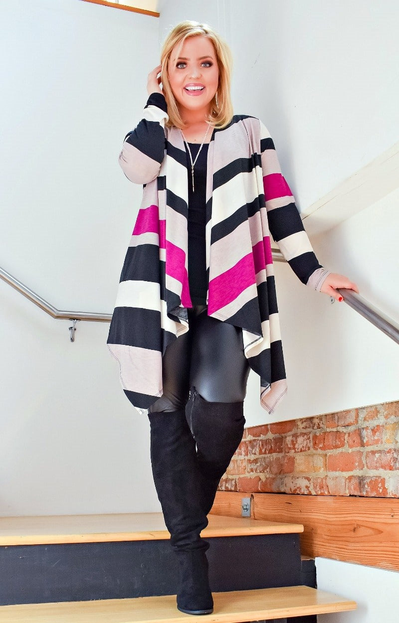 Load image into Gallery viewer, Keeps Calling My Name Striped Cardigan