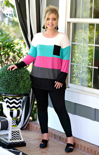 Moving Too Fast Colorblock Top - Multi