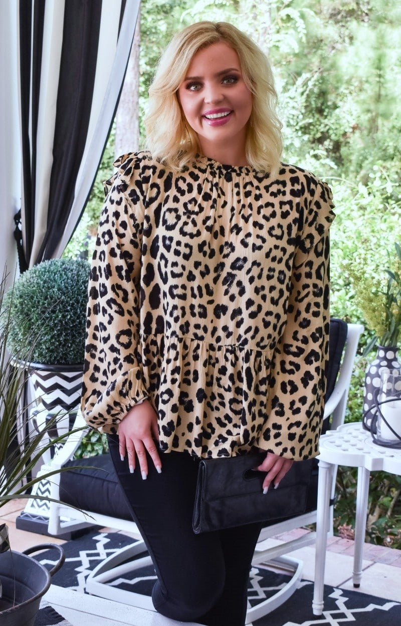 Load image into Gallery viewer, Doing My Own Thing Leopard Print Top