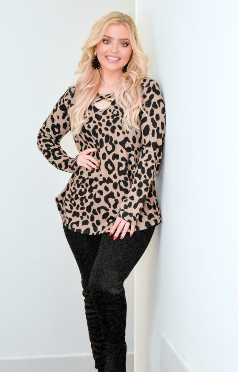 Load image into Gallery viewer, So Twisted Leopard Print Top