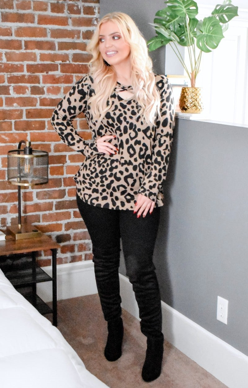 So Twisted Leopard Print Top