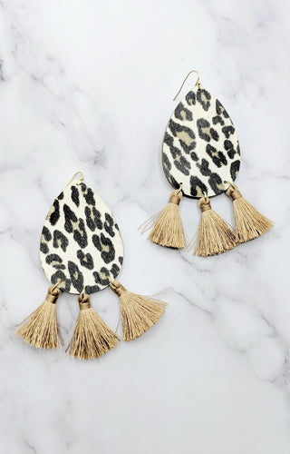 You'll Be There Leopard Print Earrings