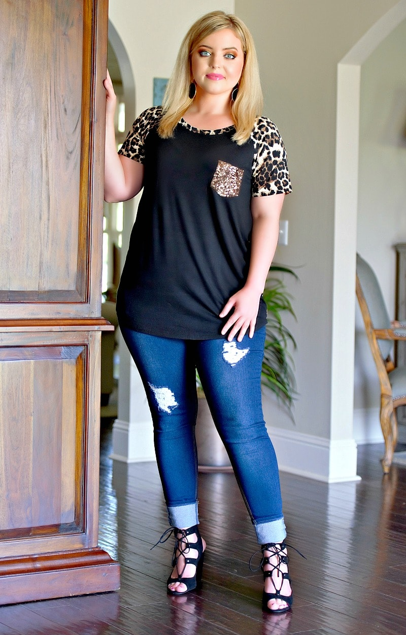 Load image into Gallery viewer, With Every Breath Leopard Print Top - Black