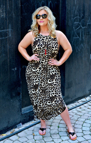 Grab Your Attention Leopard Print Maxi Dress