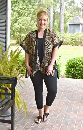 Every Which Way Leopard Print Kimono