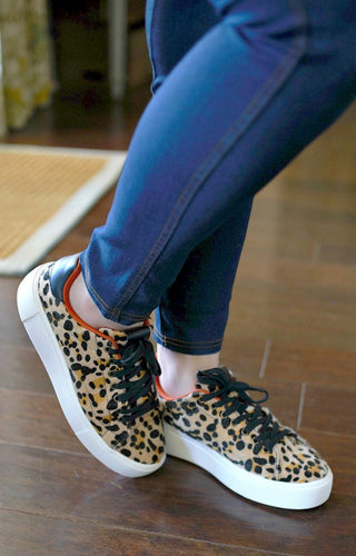 Set It Off Leopard Print Sneakers