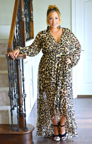 Top Of The Class Leopard Print Maxi Dress