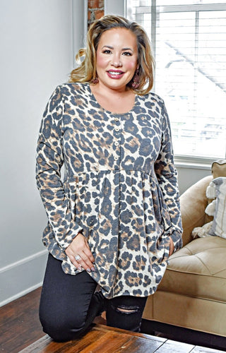 Starts With You Leopard Print Top