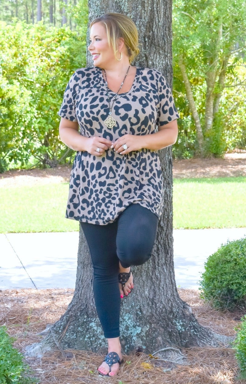 It's That Easy Leopard Print Top