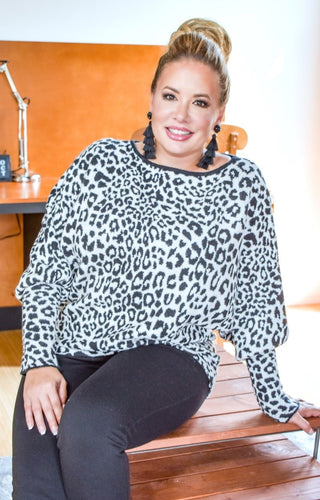 Nothing To Lose Leopard Print Sweater