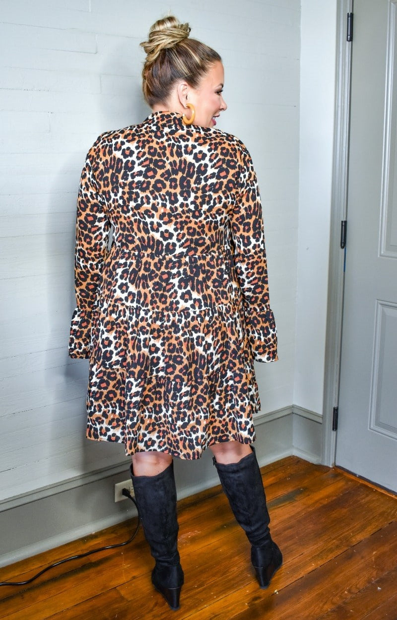 Load image into Gallery viewer, Slow Down Time Leopard Print Dress