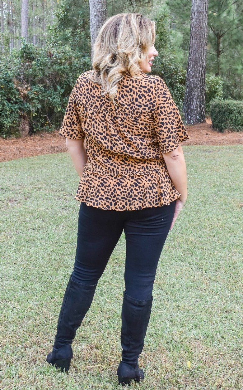 A Ways To Go Leopard Print Top