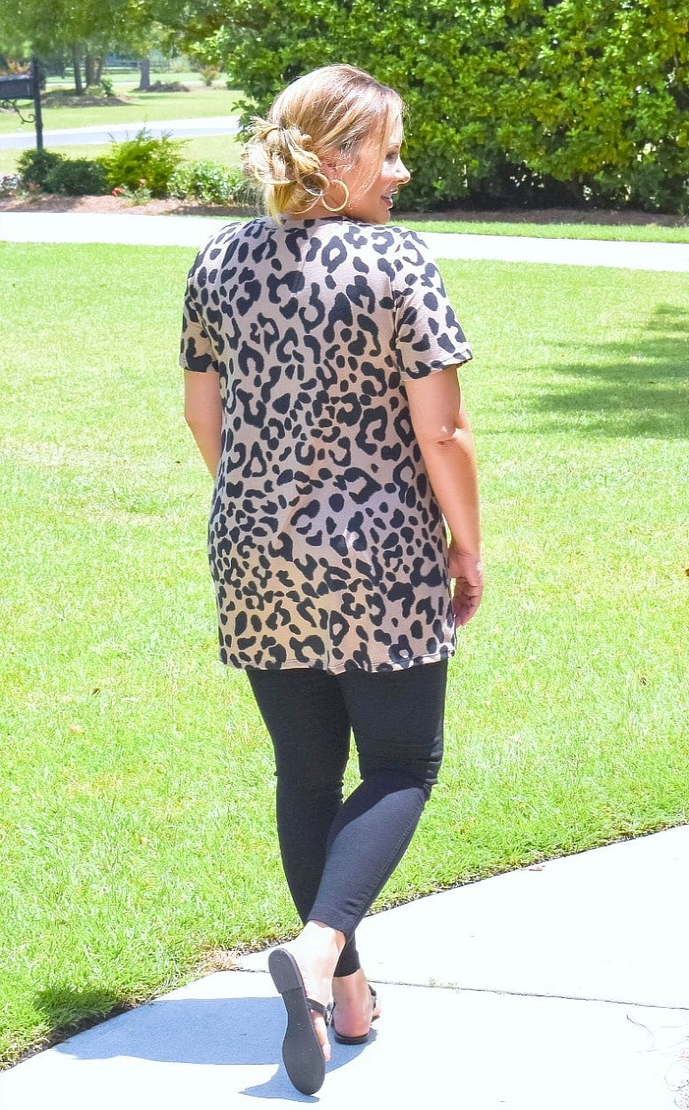 Load image into Gallery viewer, It's That Easy Leopard Print Top