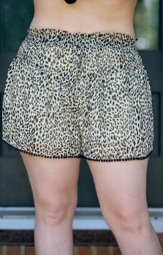 Can't Keep Up Leopard Print Shorts