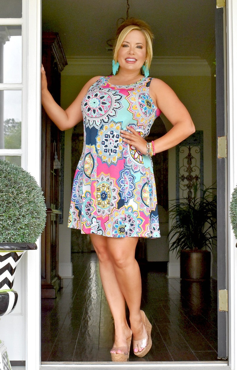 Shining Bright Print Dress - Multi