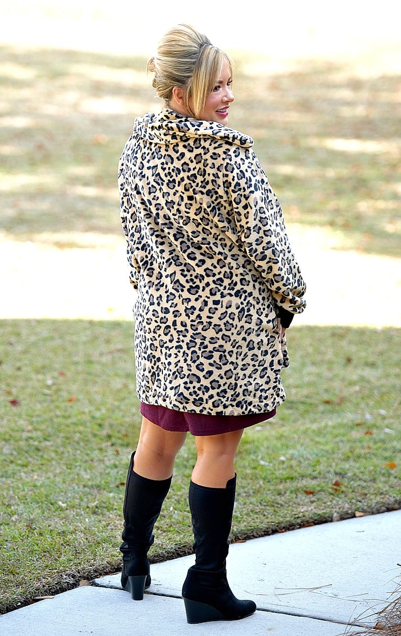 Touchy Subject Leopard Print Jacket