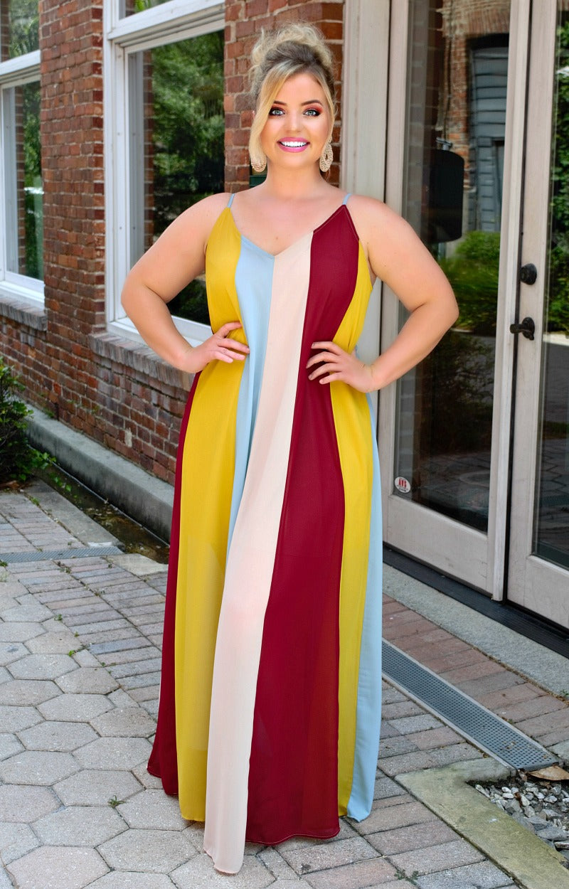 Load image into Gallery viewer, Unanswered Questions Striped Maxi Dress - Multi