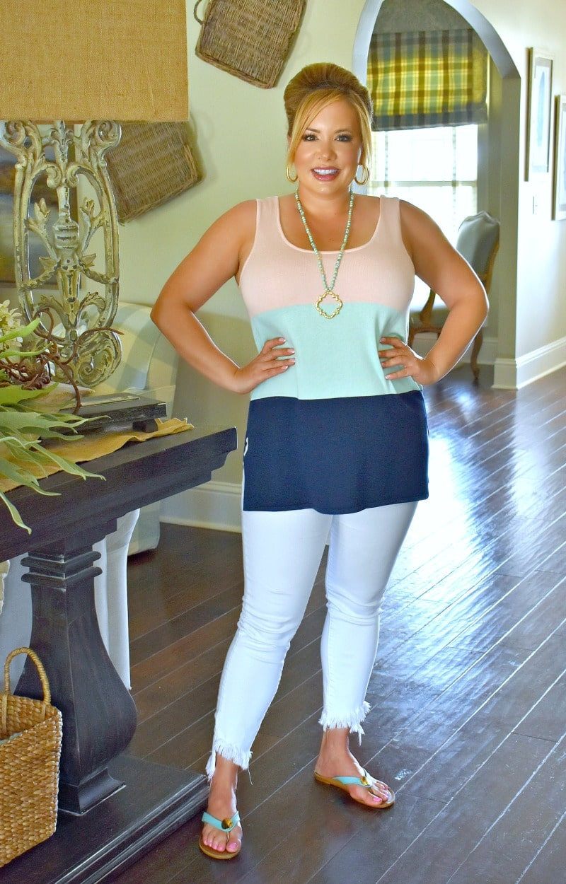 Simple And Easy Colorblock Top