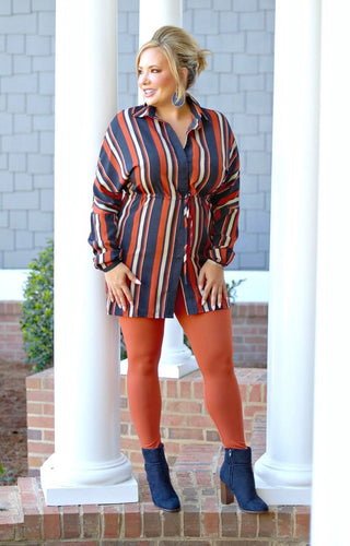 Come With Me Striped Dress/Tunic - Multi