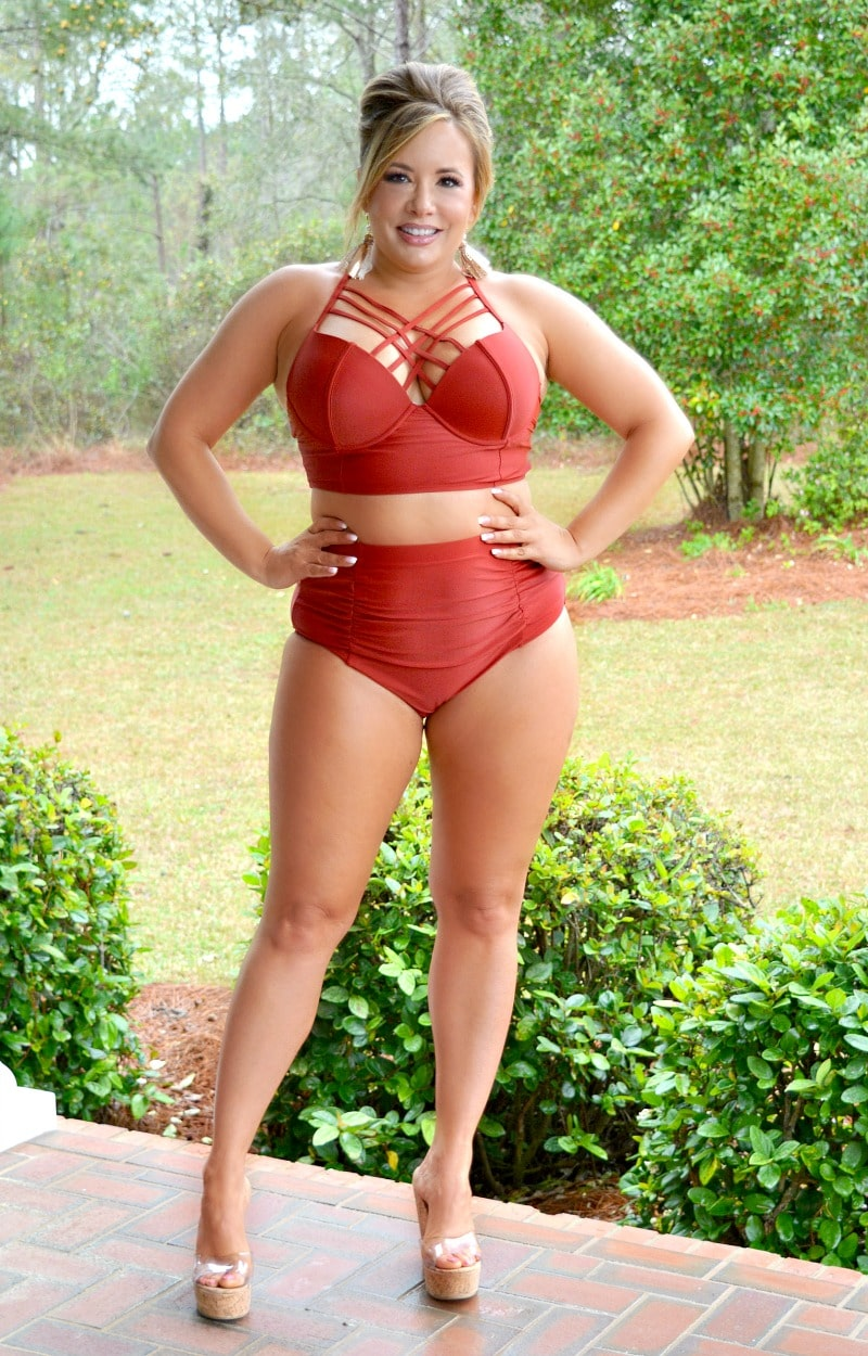Load image into Gallery viewer, Something In The Water Two Piece Swimsuit - Burgundy