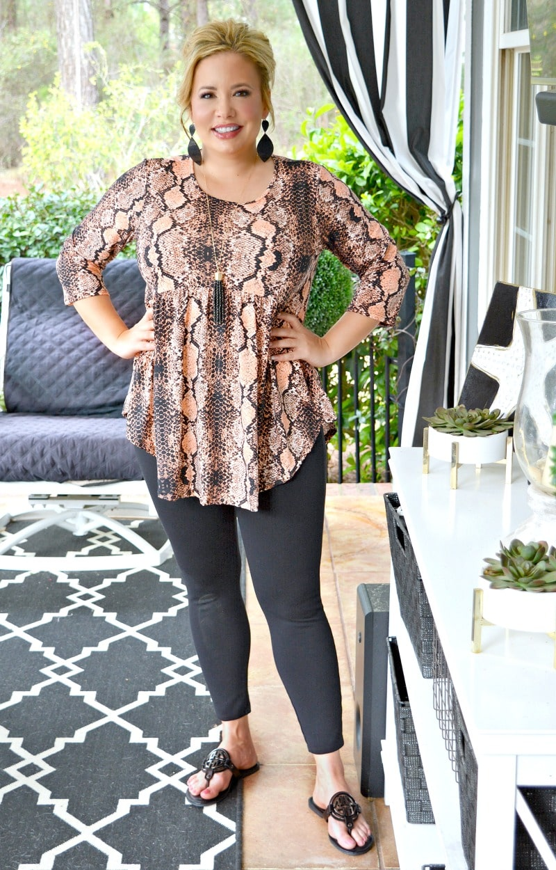 Rattle Me Up Snake Print Top