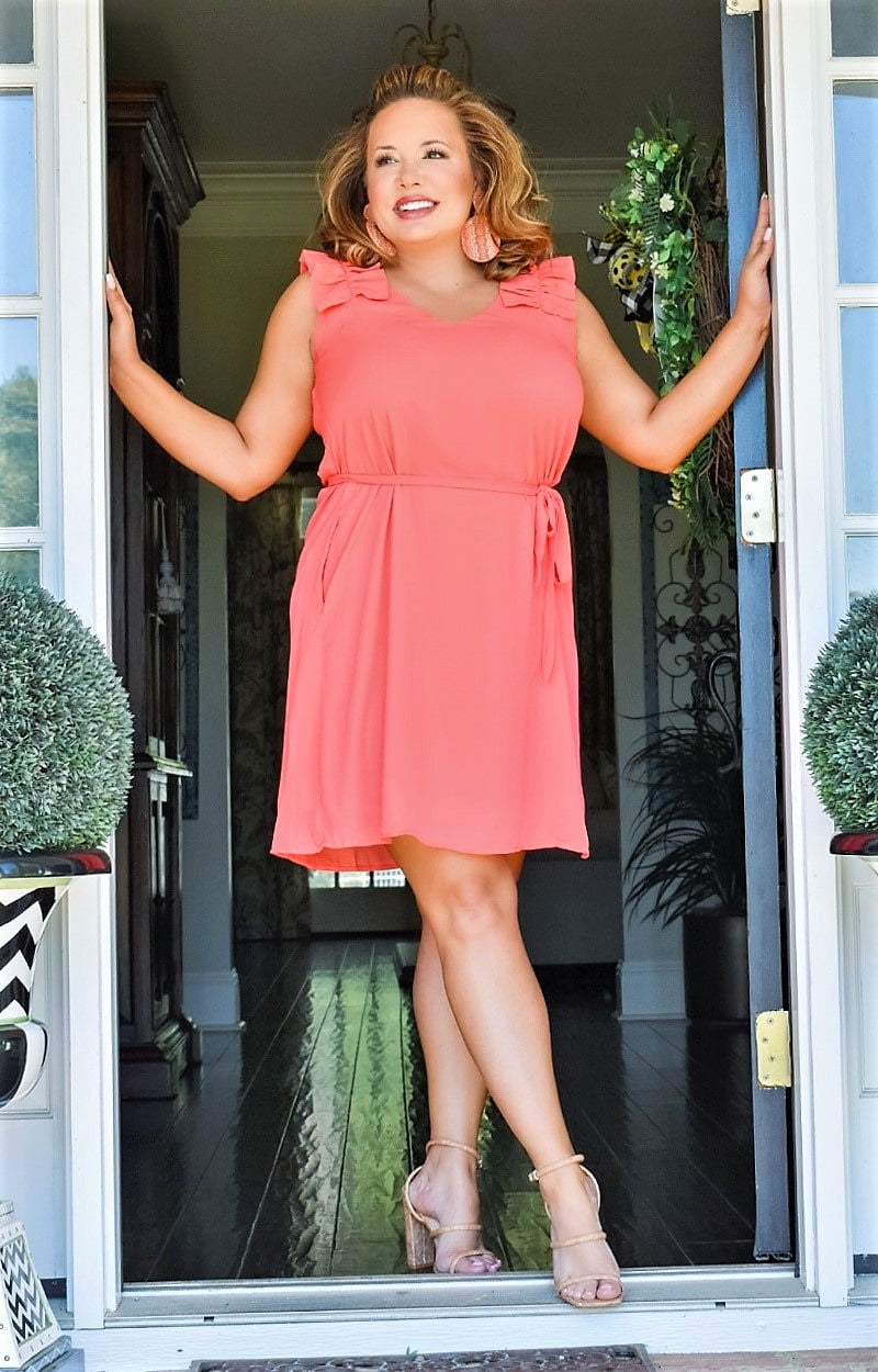 Love Of A Lifetime Dress - Coral