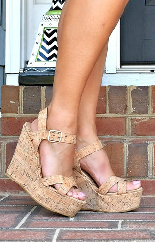 Living Easy Cork Wedges