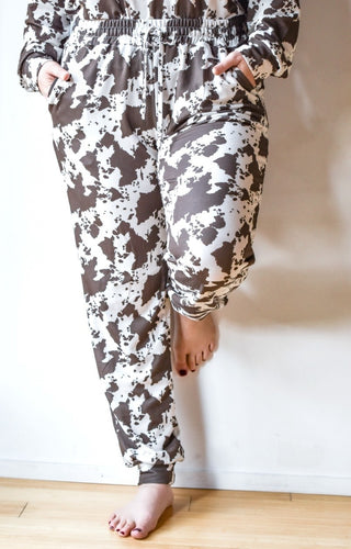 Better Than That Print Joggers - Brown