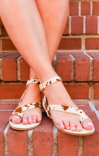 Keep You Close Print Sandals
