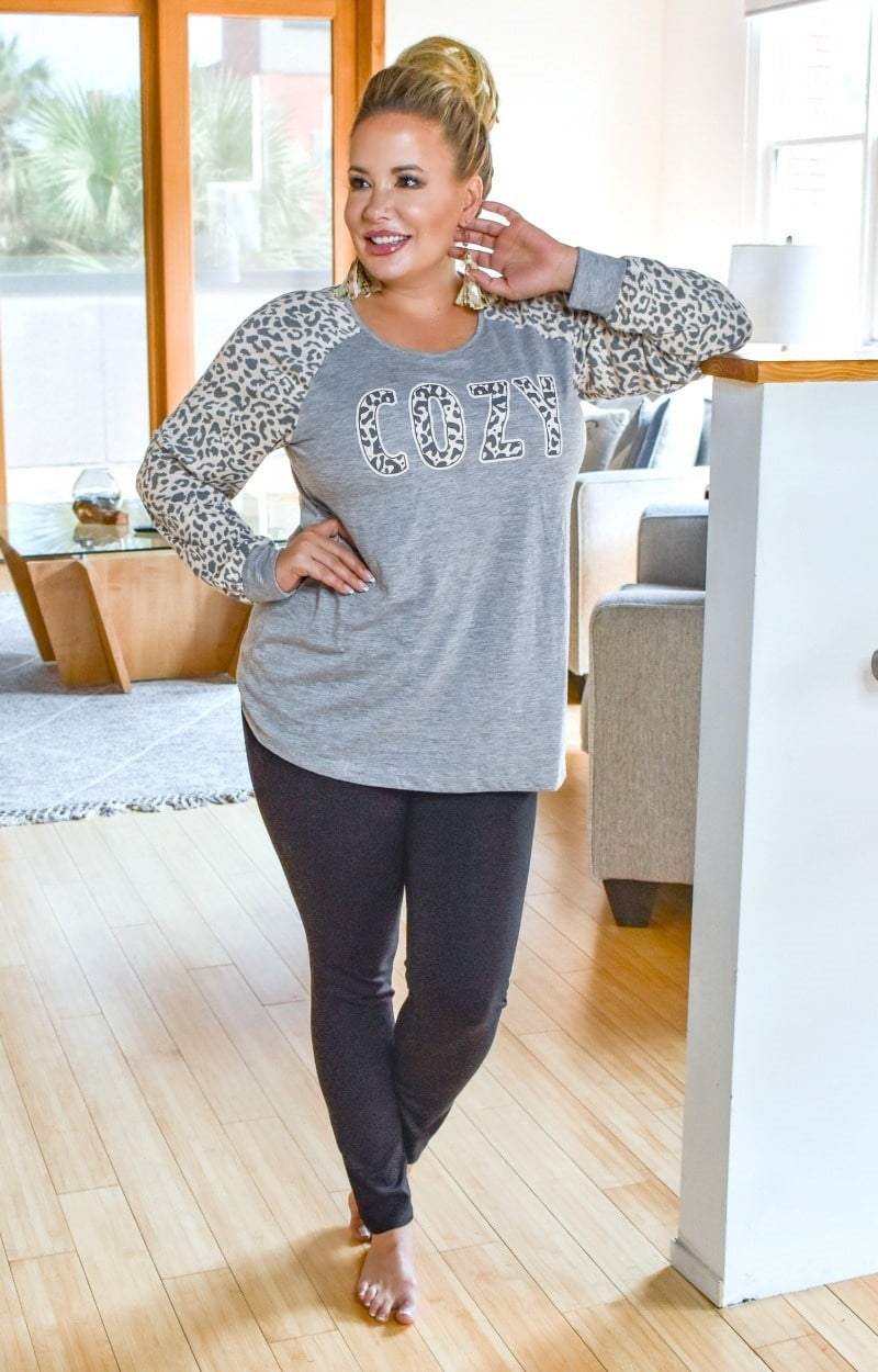 Load image into Gallery viewer, Cozy Leopard Print Pullover - Gray