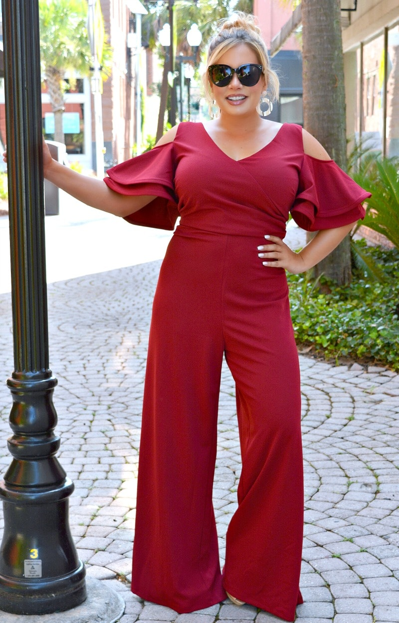 Load image into Gallery viewer, The Way To Your Heart Jumpsuit - Burgundy