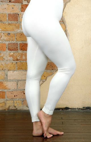 So Very Luxe Ankle Length Leggings - Ivory