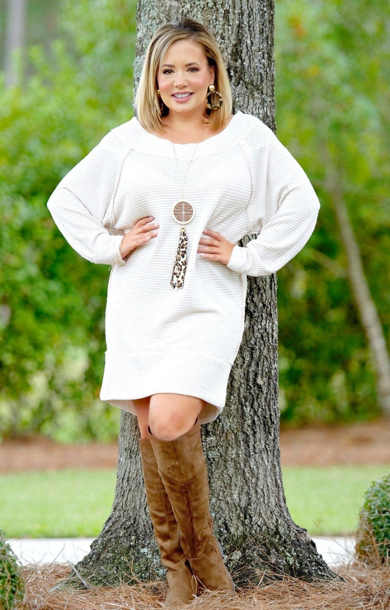 Up To Standards Dress/Tunic - Taupe