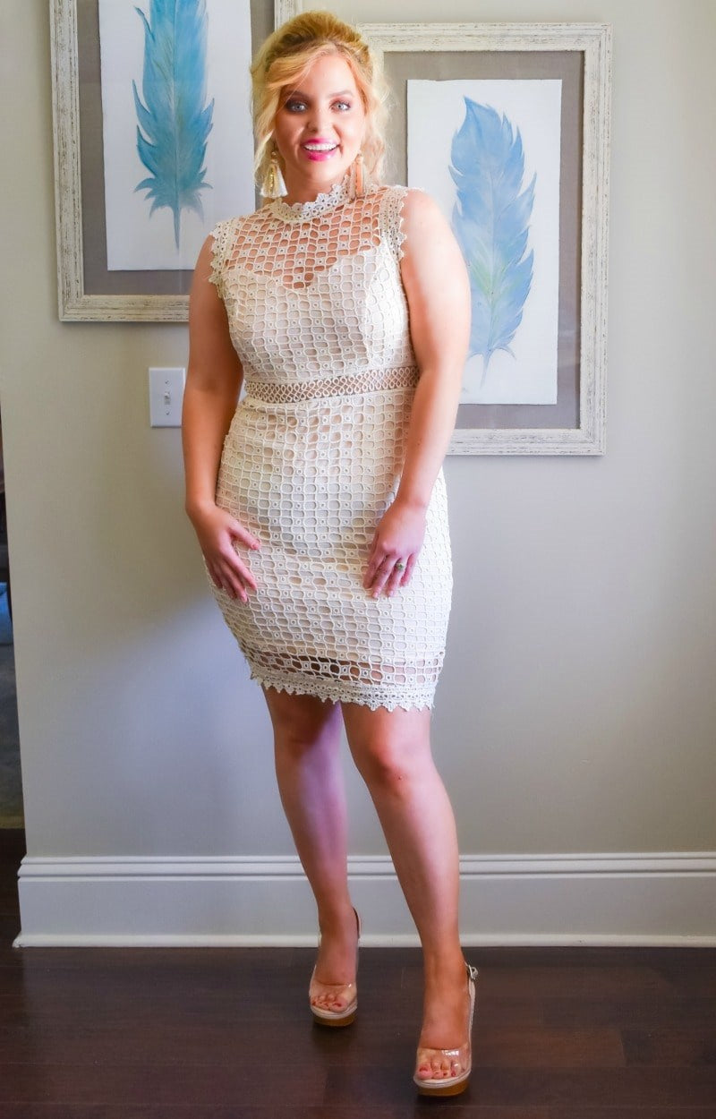 Load image into Gallery viewer, Put A Spell On You Crochet Dress - Blush